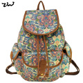 ZIWI Brand New Arrival Promotion Beauty Flower Canvas Backpack Fashion School Travel Ethnic Rucksack Classic Knapsack SY0407