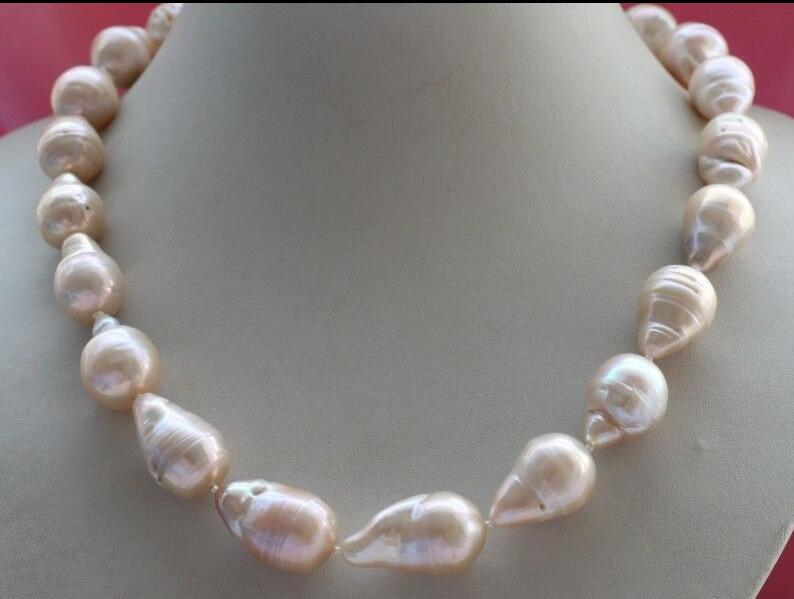 18 Natural 26 mm Pink Reborn Pearl Necklace18 Natural 26 mm Pink Reborn Pearl Necklace