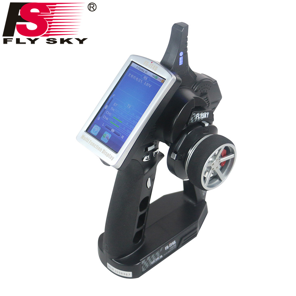 Flysky FS iT4S 2 4GHz 4CH 2Gun AFHDS RC Radio System Transmitter Controller with Touch Screen