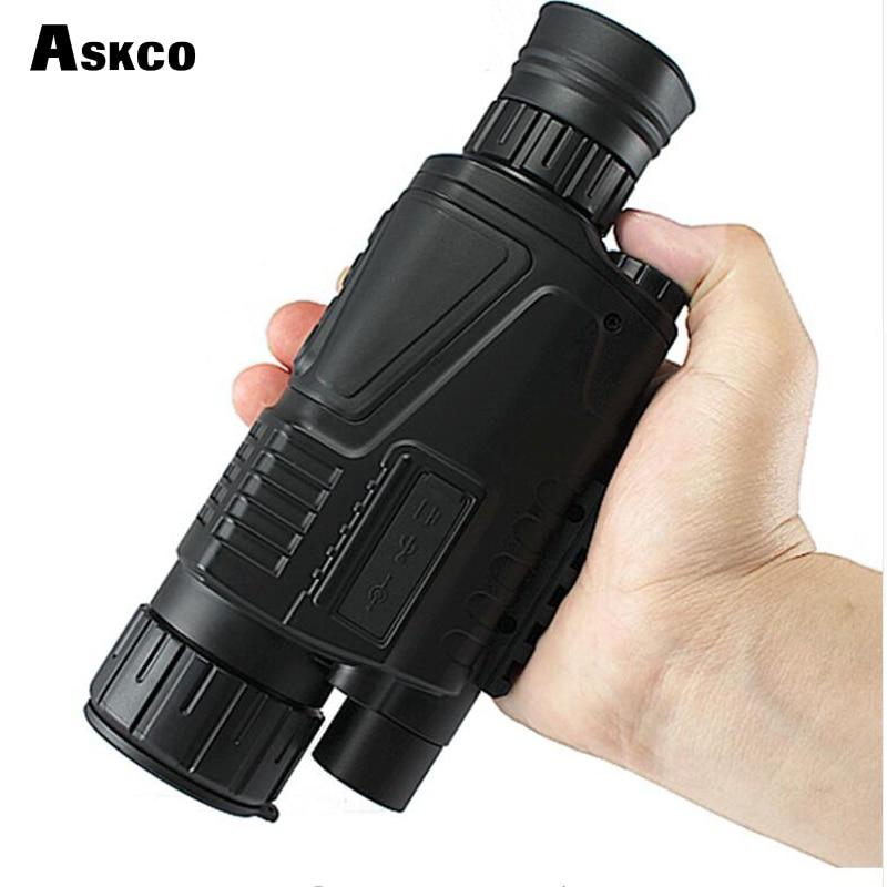 Digitale monoculare notturna a raggi infrarossi occhiali per la visione notturna 5X40 portata di visione notturna Prende Le Foto Video con DISPLAY TFT LCD per la caccia di vendita caldo