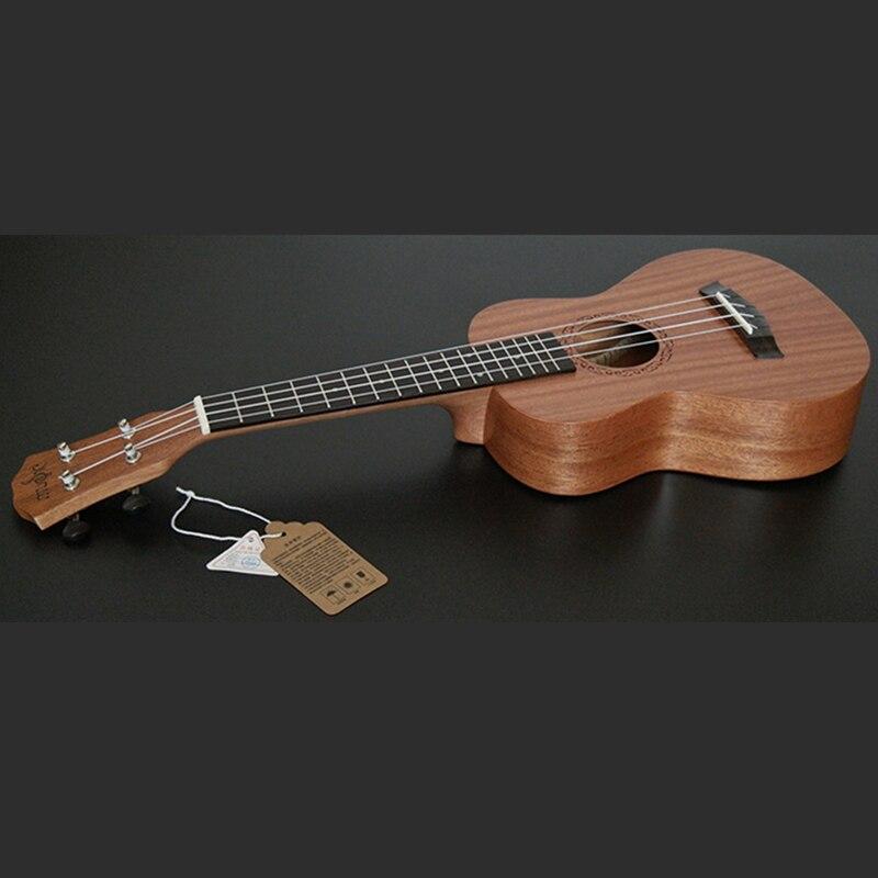 SevenAngel 26 pouces ténor électrique ukulélé acajou Mini hawaïen 4 cordes guitare palissandre Fretboard avec ramassage EQ