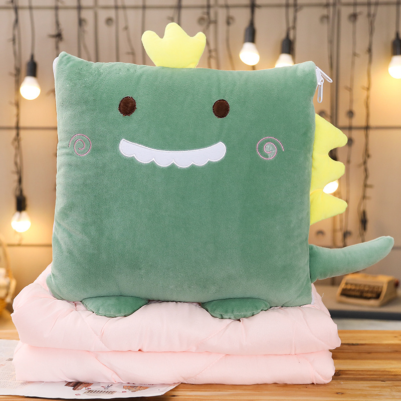 Cartoon Animal Pillow Air Conditioning Quilt Dual-purpose Plush Toy Office Cushion Student Gift