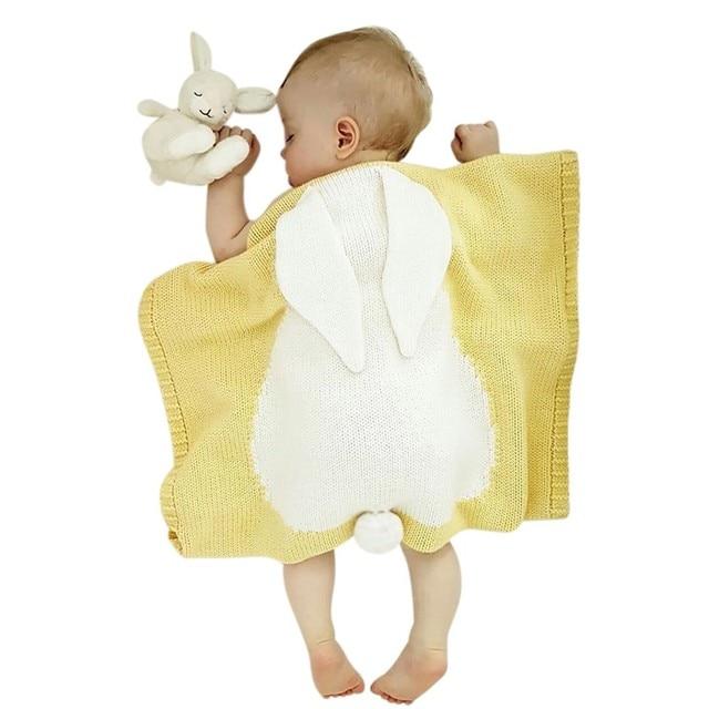 bcd567324 Baby Blankets Rabbit Hook Newborn Blanket Kids Personalized Cotton ...