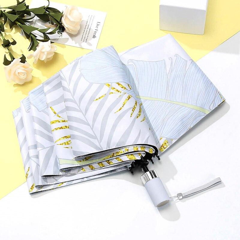 Ultra-léger Petit Parapluie Déesse Ins Ensoleillé Pluie Solaire UV Parapluie Automatique Mini Étudiant de Pliage Parapluies Enfants YS5