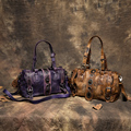 Vintage Genuine Leather Women Handbag 2017 Fashion Handmade Matel Decorate Casual Women Messenger Bags