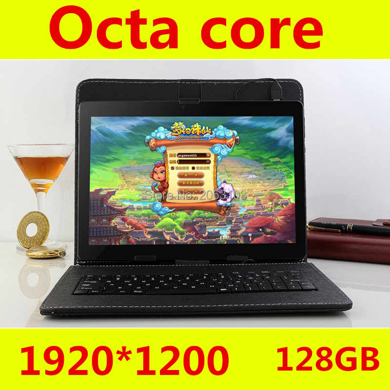 Tablet 10 Inch Octa Core 4 GB Ram 128 GB ROM Android 7.0 10 Inch Tablet PC 1920*1200 ips Dual Kamera Sim Tablet 10 10.1 + Hadiah