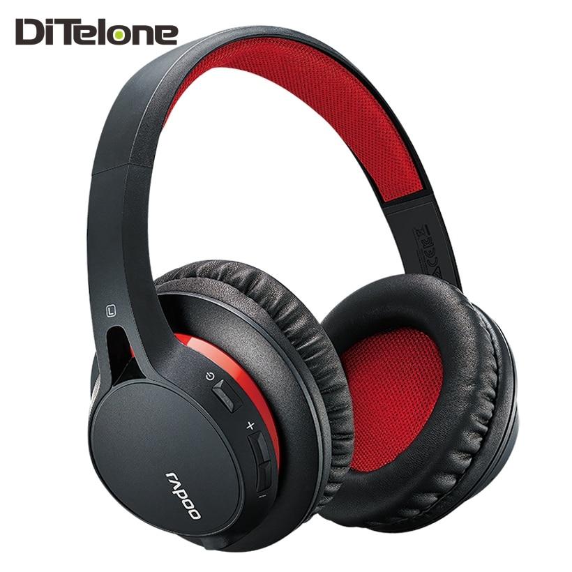 Rapoo S200 Bluetooth Headphones Wireless Headset Stereo Microphone Stereo HiFi Black White Red