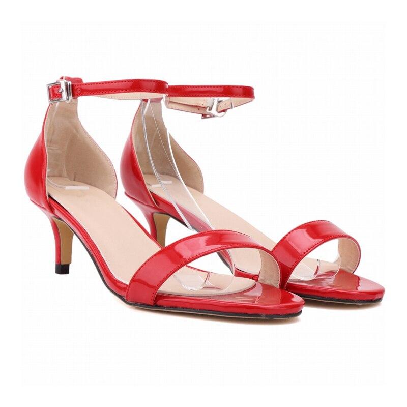 Plus patent Partie A048 Leather De La flock Chaussures Flock Mariage Bout Mince Femmes Ouvert En Talons À Cuir Style Sexy Hauts Sandales Med 35 Nouveau Élégant 2018 Sandale Styl Taille Style 42 rrSxqAH