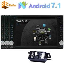 "Android 7.1 Car DVD Player 6.2"" GPS Car Stereo Navigation 2Din Headunit Radio Receiver Bluetooth/Mirrorlink/WiFi/OBD2+Camera"