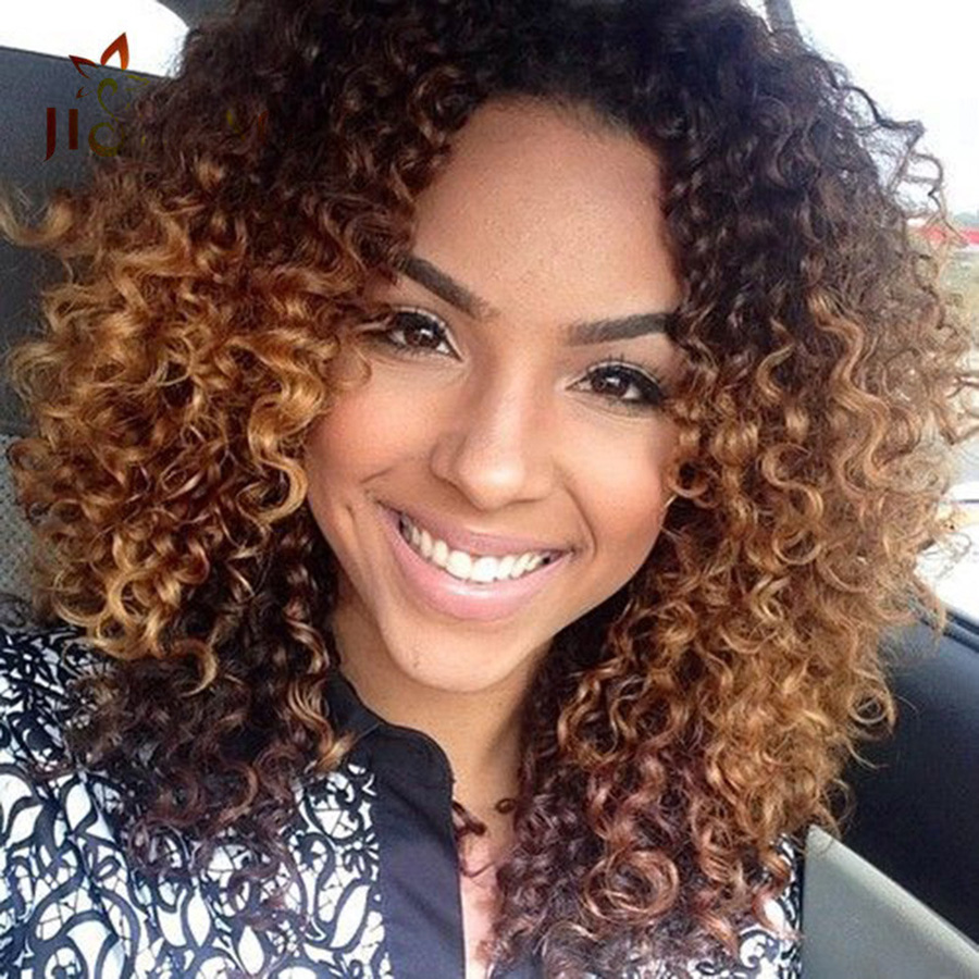 ombre deep wave human hair weave two tone curly human hair
