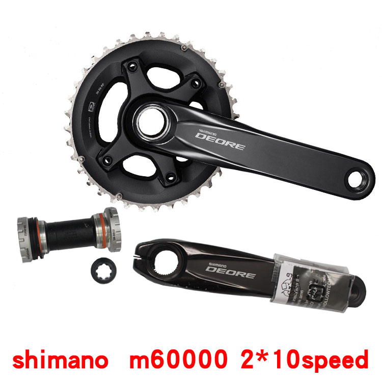 2017 NEW!! <font><b>Shimano</b></font> <font><b>DEORE</b></font> M6000 <font><b>2x10</b></font> Speed MTB Bicycle Crankset 38x28T 170mm include Central Movement with bb52 image