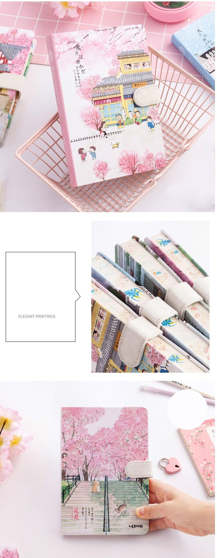 Hot Promo B35a A5 Japanese Creative Sakura Stationery Gift For