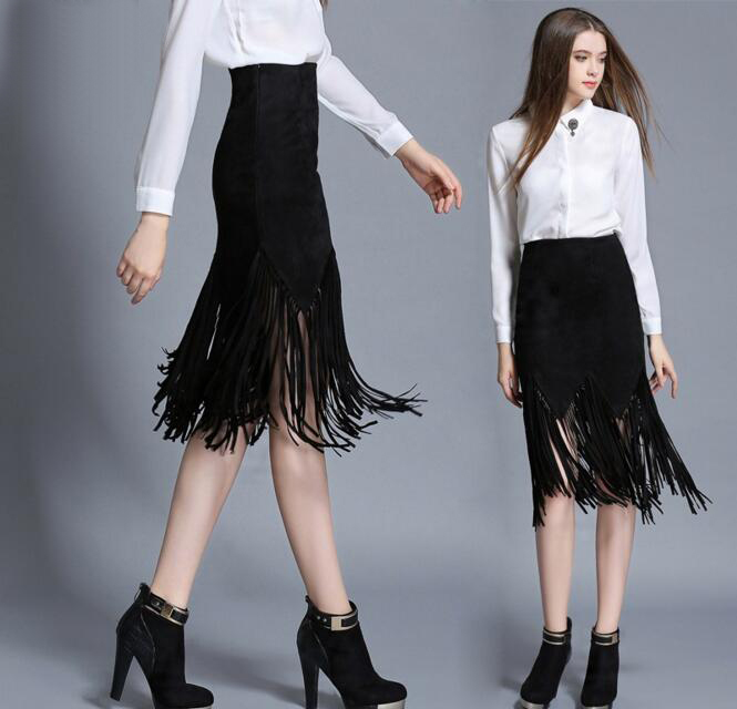 Compare Prices on Black Leather Tassel Skirt- Online Shopping/Buy ...