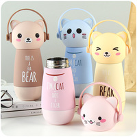 260ml Cartoon Cat Monkey Stainless Steel Thermos Bottle Mini Insulated Cup Kettle Vacuum Flask Water Bottle