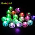 100 unids/lote Multicolor Bola Mini Led Lámparas Luces Con Pilas De la Linterna de Papel Globo Decoración de La Boda de Halloween de Navidad