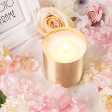 Household Scented Candle Candles Natural Gold Wedding Decorative Happy Birthday Mumluk Wax Christmas Jars 50KO336