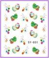 1X наклейки на отличительные знаки симпатичный пасхальное яйцо заяц вода трансферы наклейки Opp рукав упаковка SY831-836
