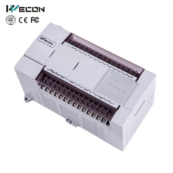 Wecon 40 points plc programmable logic controller LX3V-2416MT4H-D for gate automation plc programmable logic controller module and 3 5 inch hmi learning plan hmi plc