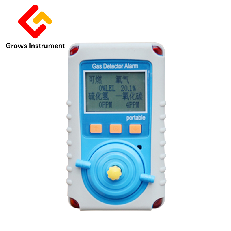 KP826 Portable Multi Gas Monitor Handheld Gas Detector Use For Oxygen O2 Hydrothion H2s Carbon Monoxide Co Combustible Gas