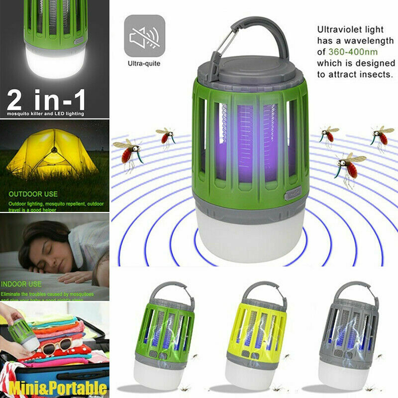 USB LED Electric Mosquito Zapper Killer Fly Insect Bug Trap Lamp Light Bulb US