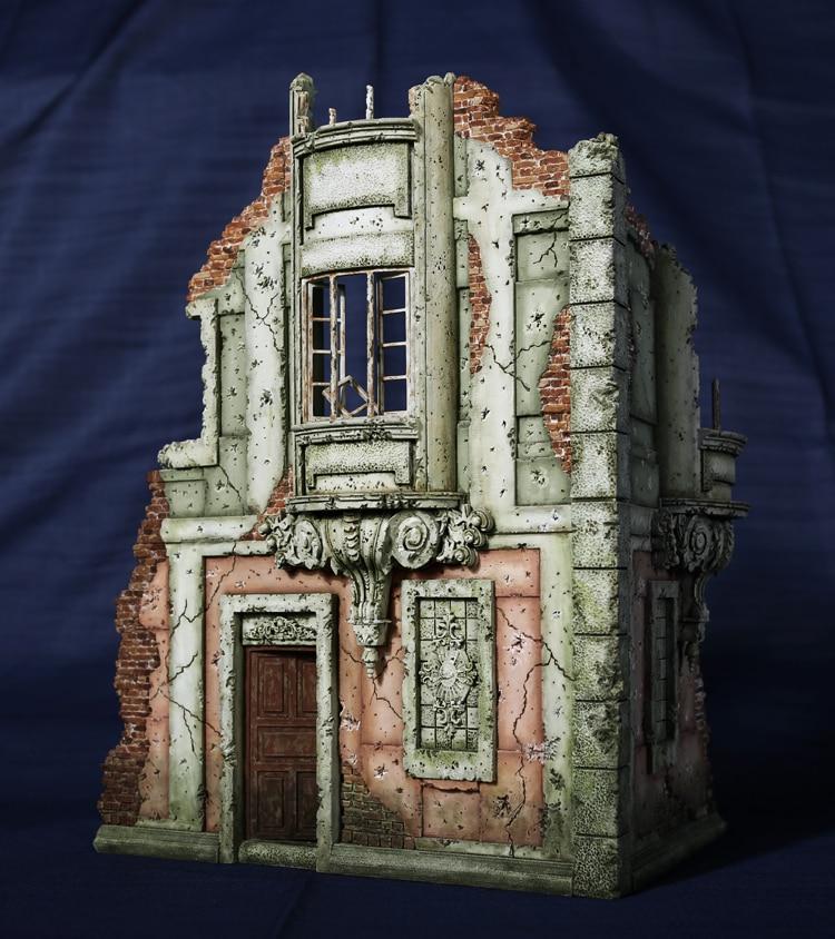 1/35 Resin European Building Model kits 02 WWII scene ruins Unpainted Free shipping ruins