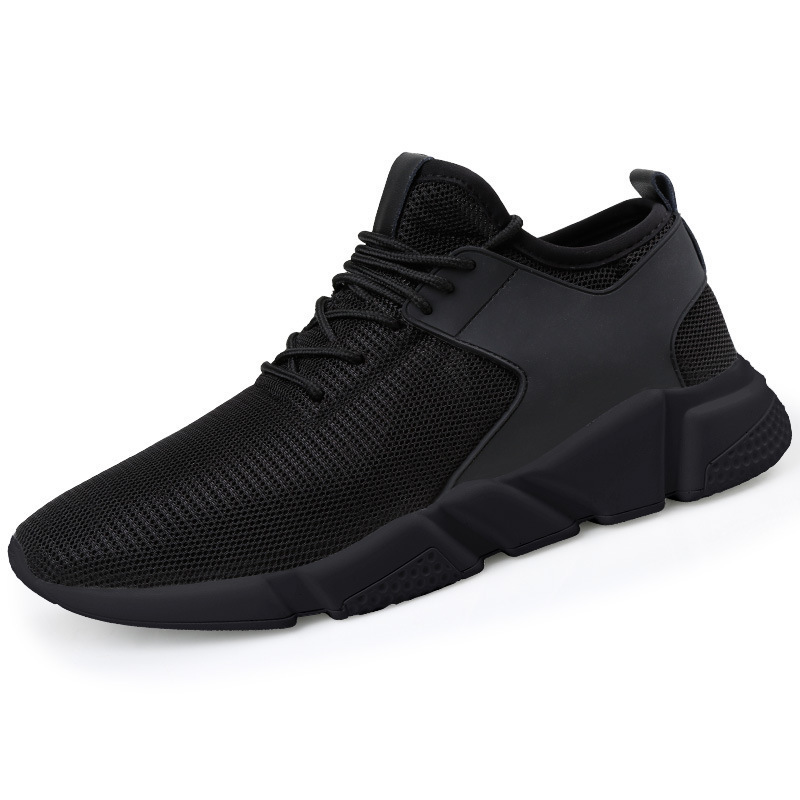 Aike Asia Hot Mens Mesh Casual Shoes Flying Woven Trend Running Shoes Wild Breathable Sports Shoes High Quality Cushion Shoes Men's Casual Shoes