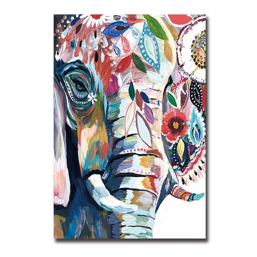 Colorful abstract elephant art the - Cuadros de fotos ...