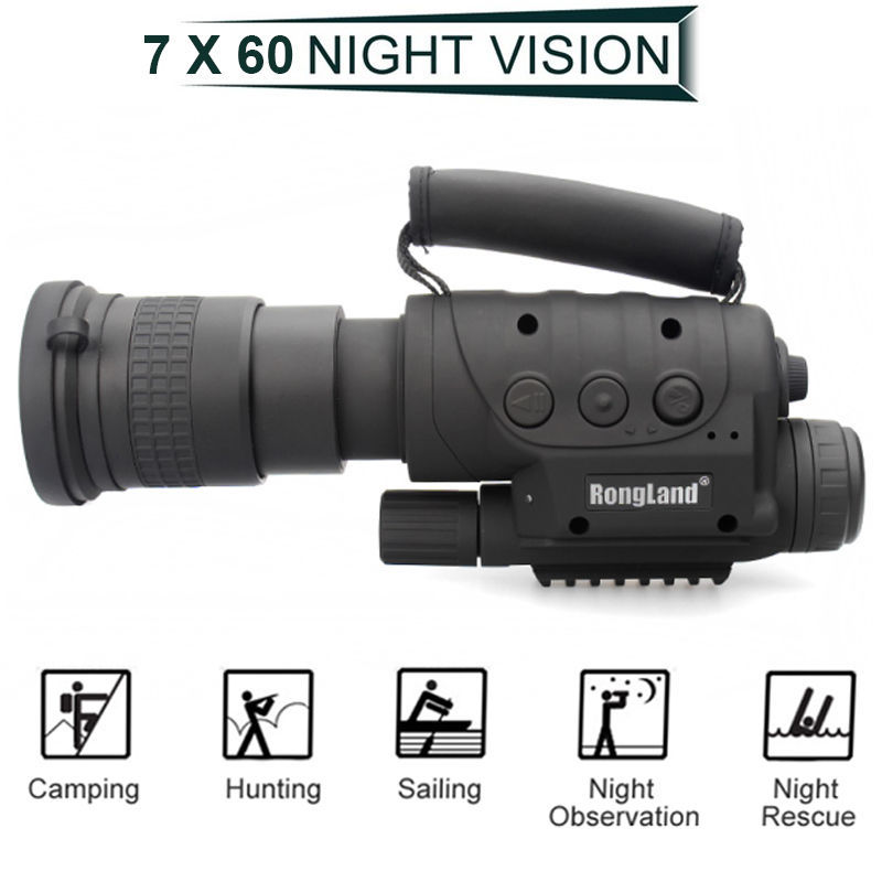 Rongland NV-760D+ Infrared Night Vision IR Monocular Telescopes DVR Record Digital Night Vision Device Binoculars For Hunting free shipping 687 full zro2 ceramic deep groove ball bearing 7x14x3 5mm good quality p5 abec5