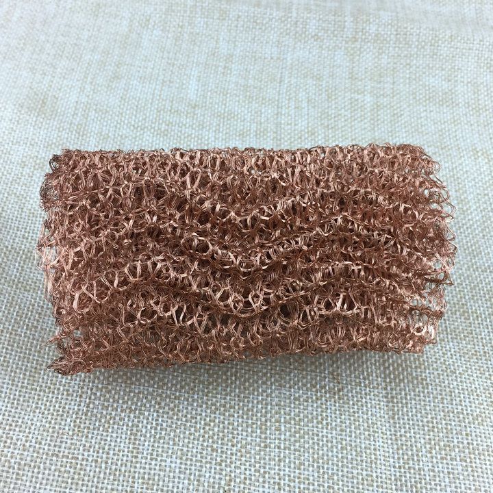1 x Black Plated Copper 20mm x 1m Knitted Mesh Craft Wire Coil X1575
