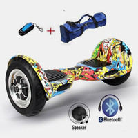 UL2272 Two Wheel Smart Balance Electric Scooter Hoverboard 10 inch Skateboard Motorized Adult Roller Hover Standing Drift Board