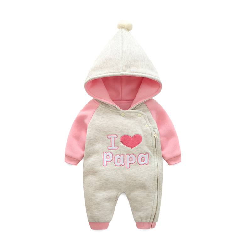 2018 Baby Rompers cotton Winter Newborn clothing Baby Girls Warm Jumpsuit Autumn  Fashion baby s wear Kids Climb boys Clothes 76fdd2e26