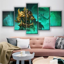 5 Panel DOTA 2 Skeleton King Canvas Painting Pictures Modern Artwork Home Decor For Living Room Printed Game Poster