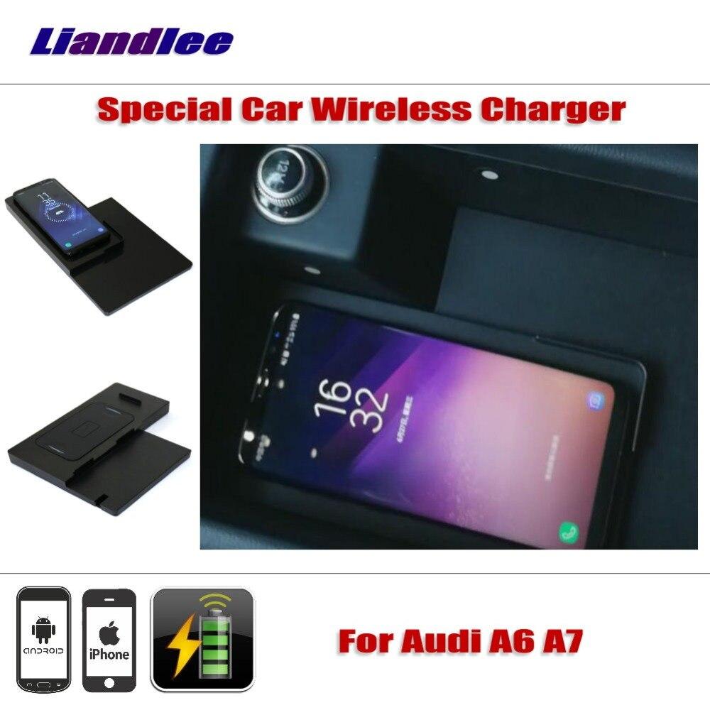 Liandlee для Audi A6 (C7/4G) A7 (4G8) Специальный скрытый автомобиля Беспроводной Зарядное устройство для хранения IPhone Android Iphone Батарея Зарядное устройст