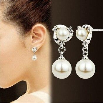 Nouvelle personnalité boucles d'oreilles en cristal de haute qualité strass sauvages Imitation perle boucles d'oreilles pour les femmes boucles d'oreilles Boucle D'oreille