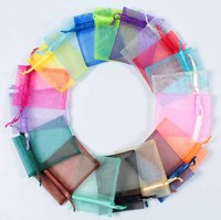 free shipping size organza bags18x13cm Custom Logo MOQ5000 pcs fashion jewelry gift organza pouch 10X13CM 5000