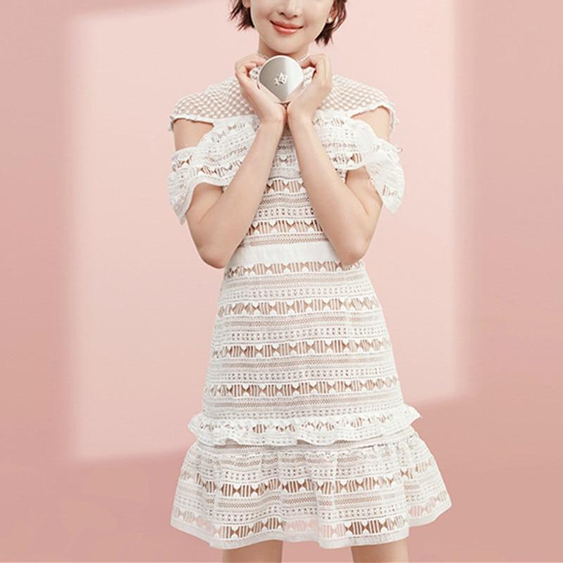 Bílé SP letní krajkové šaty