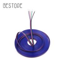 Cable de extensión de 4 pines, Cable de 22AWG, Conector de lámpara 5050, 20M, 10M, 50M, 3528 M, tira LED RGB, venta al por mayor, 100
