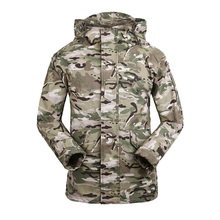 New Soft Shell Thick Fleece Lining Jacket Men Army Combat CAMO Casaco Masculino Wind Resistant Waterproof Coat Outerwear