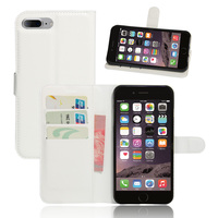 50 Pcs Flip Wallet Case For Apple IPhone 7 Magnetic PU Leather Case For IPhone 4