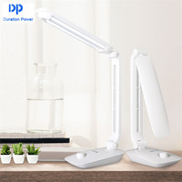 DP Fashion White 3000mAh LED Table Lamps Flexible Reading Lamps Studyroom Night Light Office Book Desk