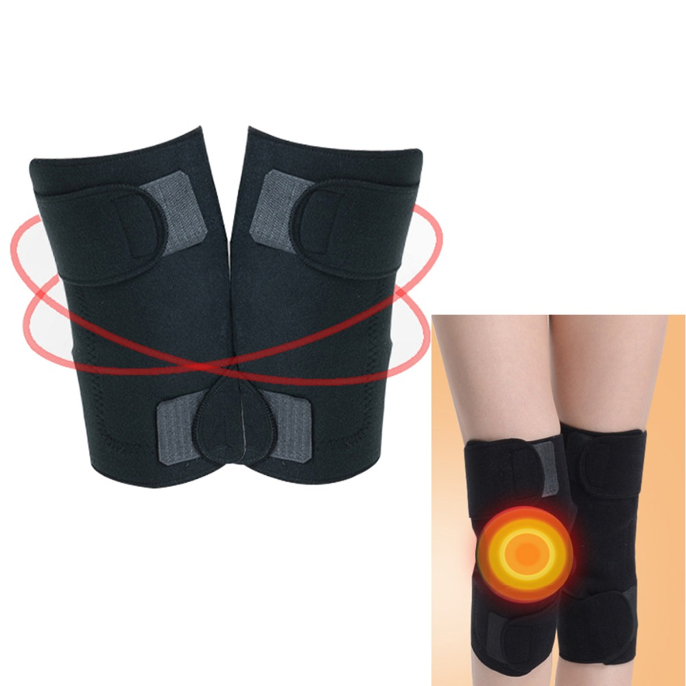 100Pairs/Pack Tourmaline belt self heating knee pad Magnetic Therapy knee support tourmaline heating Belt knee Massager