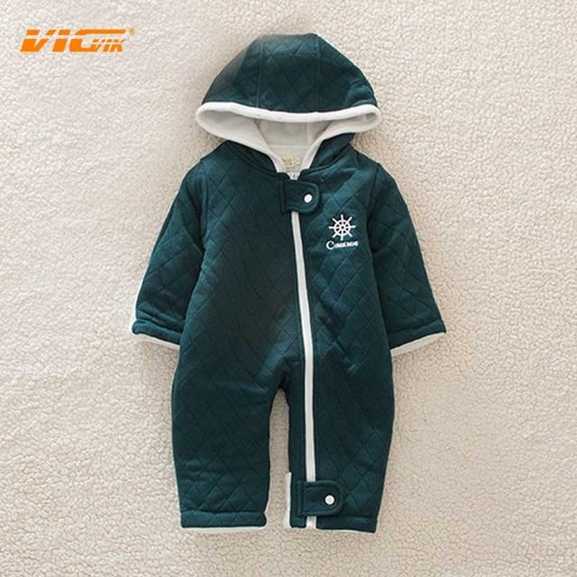 VICVIK marca Menino Romper Do Bebê Crianças Roupas de Inverno Recém-nascidos Trepadeira Conjunta Terno Do Bebê Do Algodão Dos Desenhos Animados Manga Longa Roupas Venda Quente