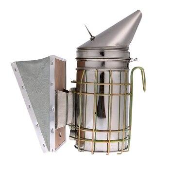 스테인리스 꿀벌 하이브 흡연자 열 방패 보호 양봉 도구 양봉 장비와 아연 도금 된 철