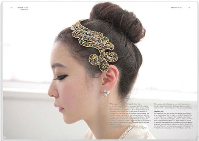 Free shipping classic vintage Chinese style exquisite glittering wing hairbands elegant hairwear charming design hair jewely