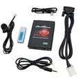 Moonet Bluetooth Автомобильный MP3 USB/AUX 3.5 мм Адаптер Стерео Hands Free автомобиль Смены КОМПАКТ-ДИСКОВ, пригодный для Toyota 6 + 6Pin RAV4 Corolla Avensis QX989