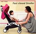 Carritos de bebé Trono Baden Cochecito de Bebé plegable Ligera puede sentarse o colocar cuatro amortiguadores envío gratis