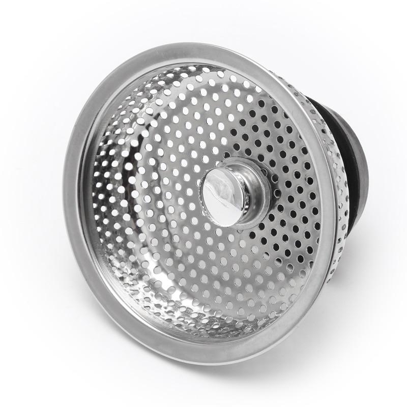 Colador del fregadero de acero inoxidable de cocina de malla Filtro de tapón de desagüe Correa de acero inoxidable de Metal para Xiaomi Huami Amazfit GTR 47mm 42mm correa de pulsera para Amazfit Bip/ pace/Stratos correa de reloj