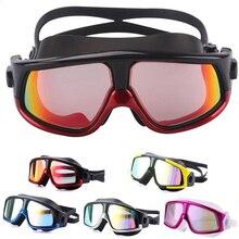 753304dad Confortável Silicone Grande Quadro Óculos de Natação Óculos de Natação  Anti-Nevoeiro óculos de proteção