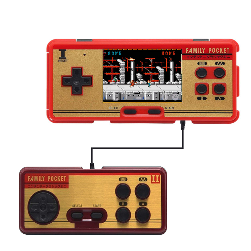 Portable Handheld Game Players Built in 638 Classic Games Console 8 Bit Retro Video Game Support AV Out Put For Gift for Fun