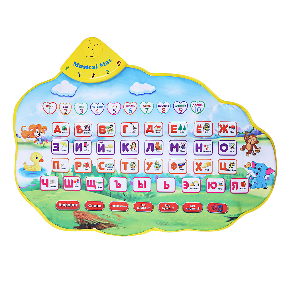 Baby Musical Carpet Children Play Mat Baby Russian Musical Play Mat Animal Sound Blanket Learning Toy Kid Educational Mat